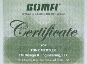 Komfi Certificate